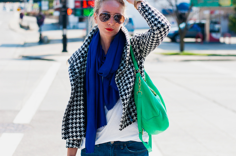 Color Blocking with Houndstooth