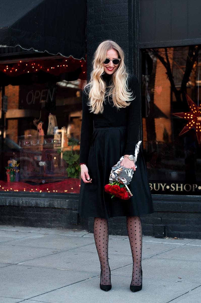 Polka Dot Tights, Fashion Blogger