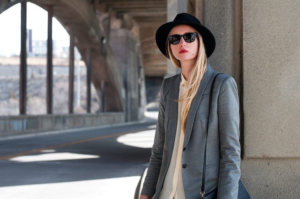 Blogger Style with Black Fedora for Spring 2015