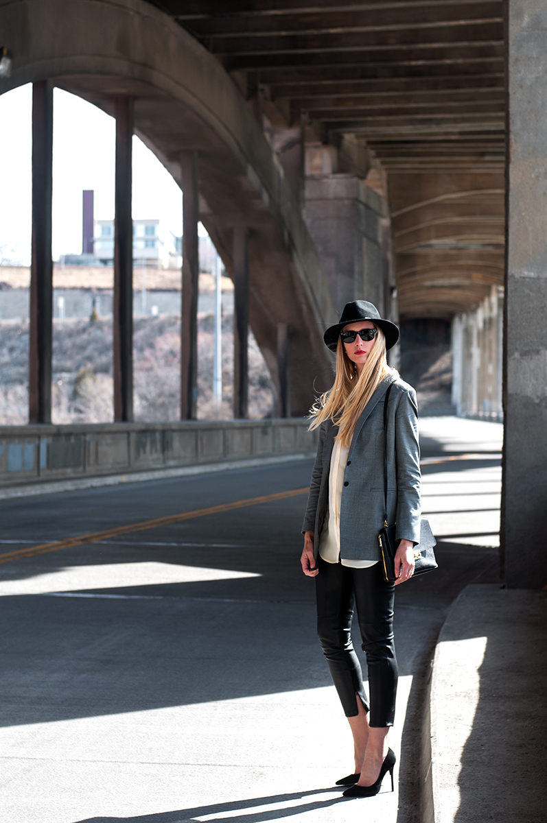 Heather Wyancko, Kansas City Based Fashion Blogger on the 12th Street Bridge