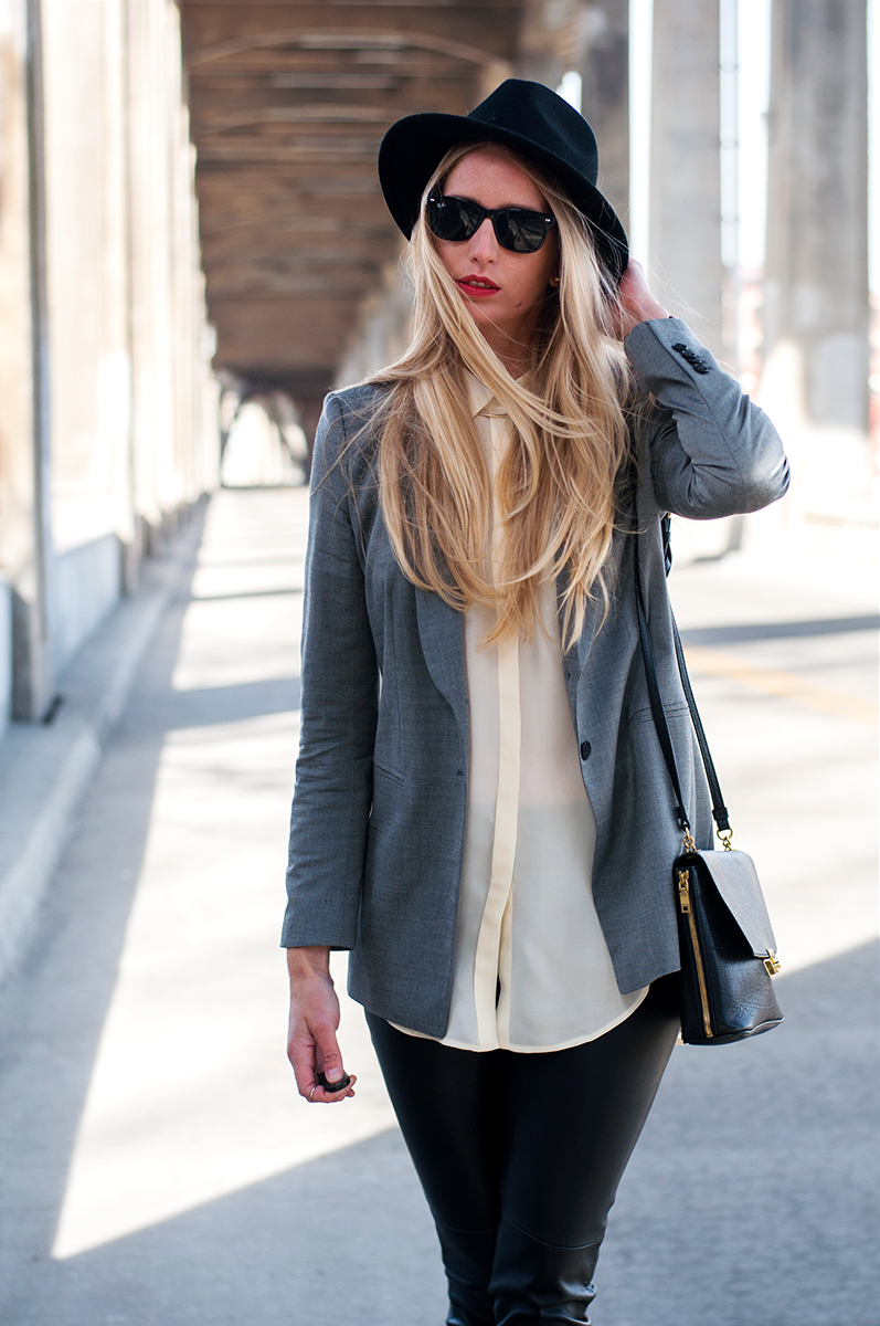 Blogger Style, Black Fedora for Spring 2015