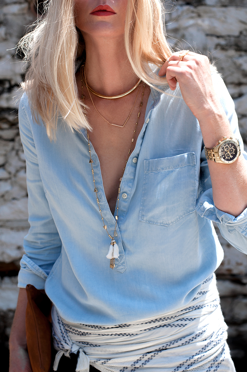 Layered Necklace with Tassel, Blogger Style