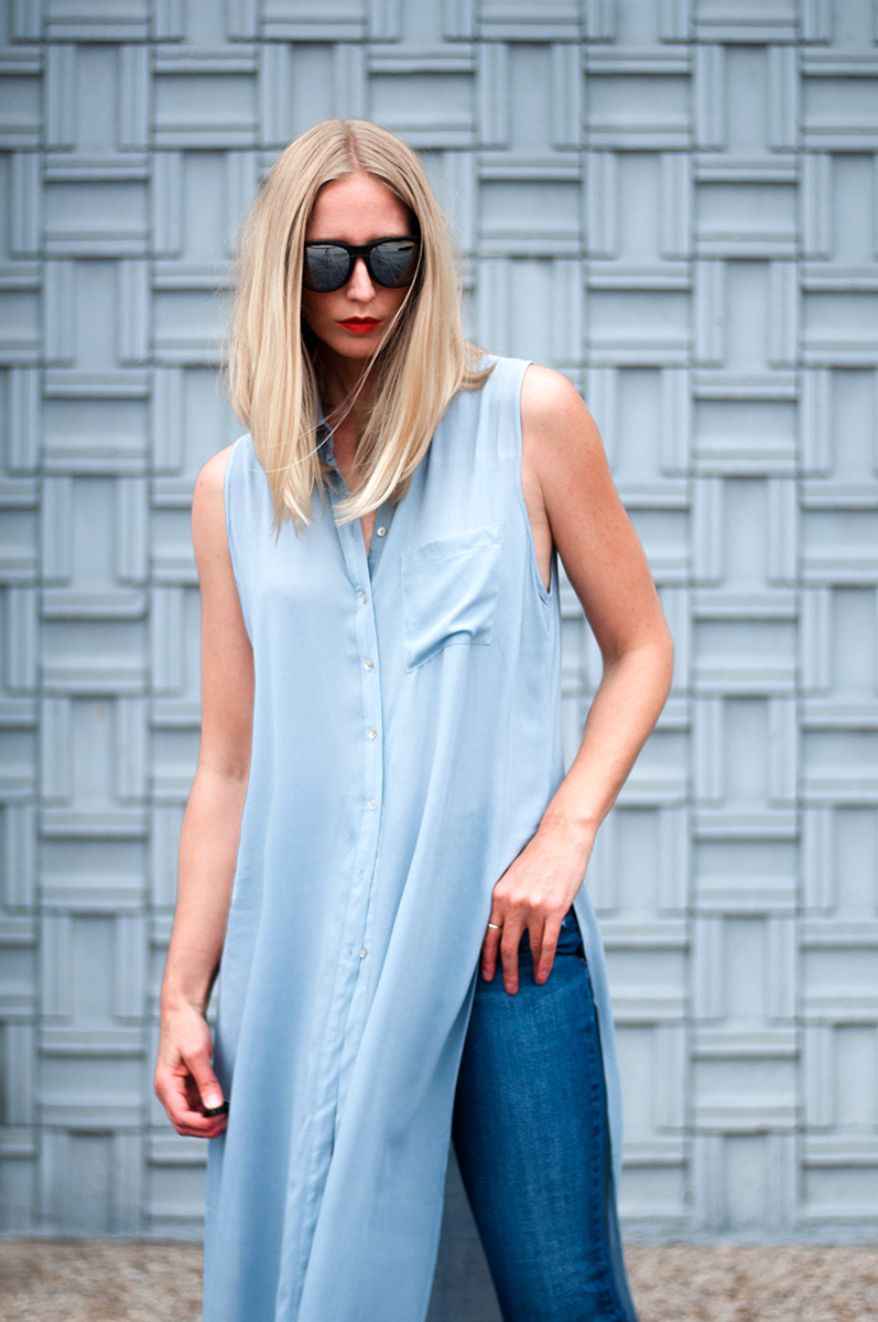 Forever 21 Shirt Dress with High Slit