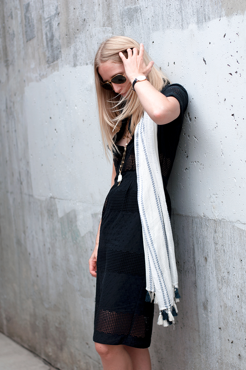 ASOS Premium Pencil Shirt Dress in Broderie