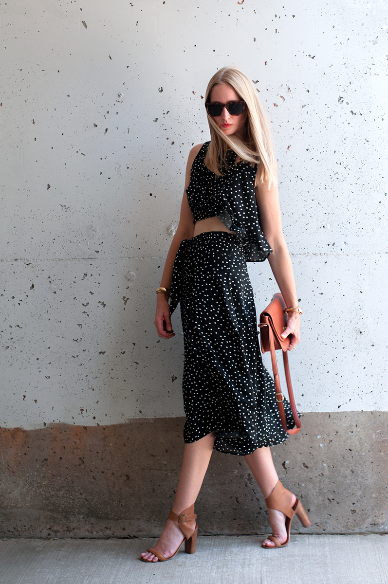 Forever 21 Polka Dot Print Top and Culottes