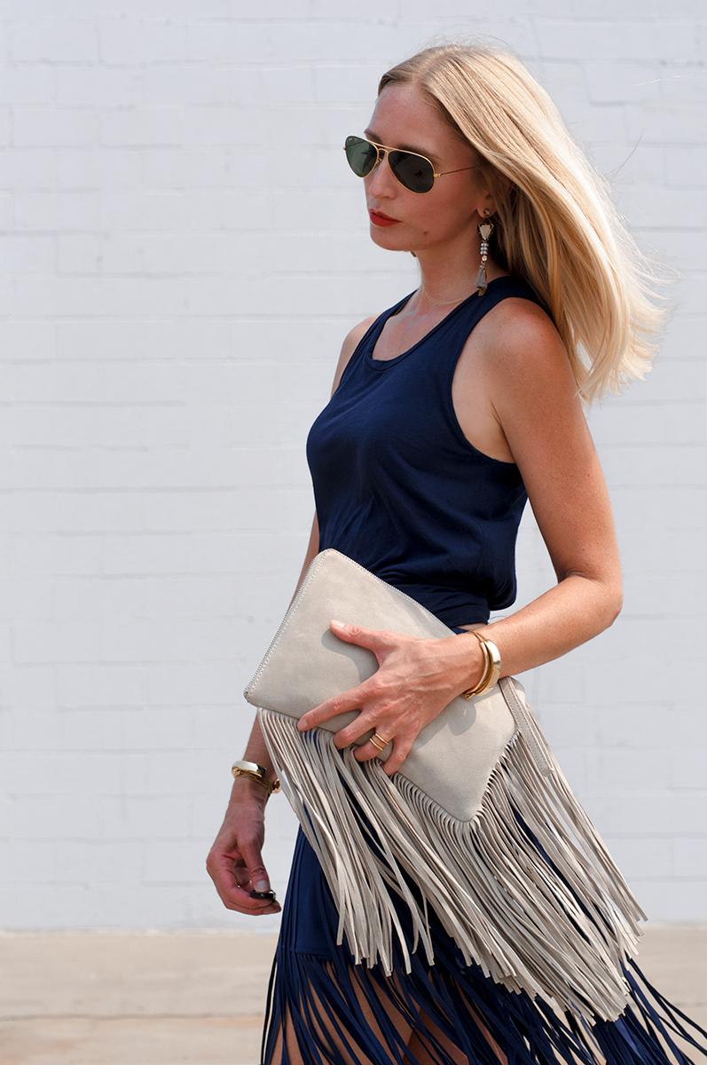 Zara Fringe Clutch