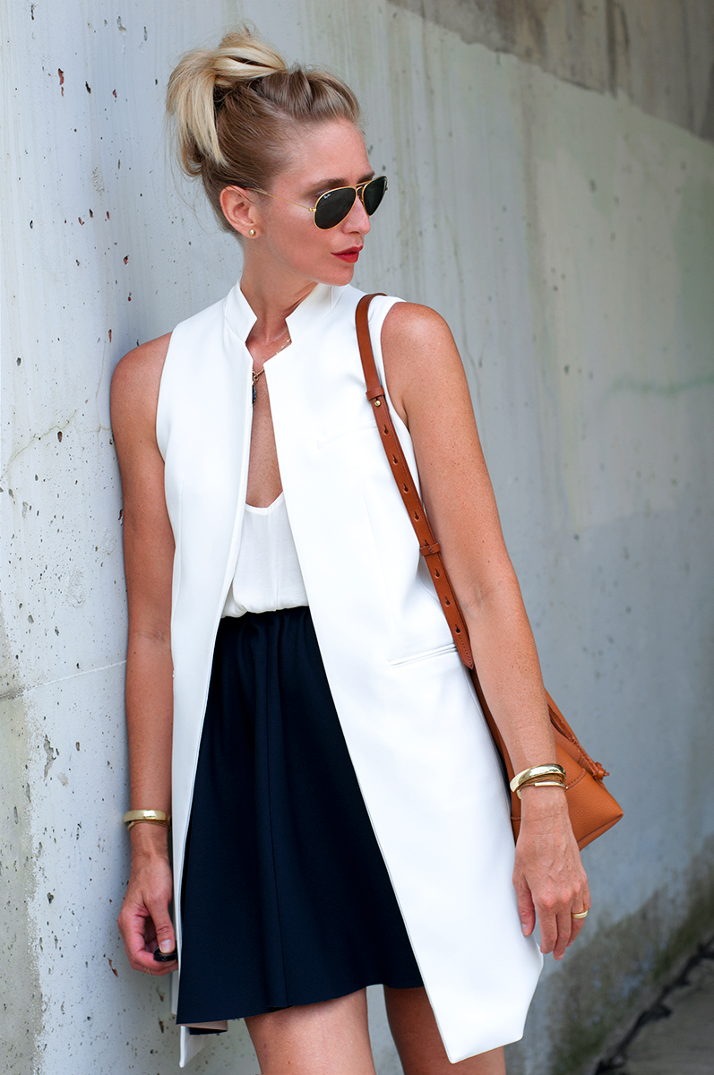 Zara White Waistcoat and Skirt with Elastc Waist