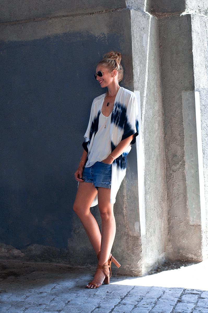 Forever 21 Tie-Dye Kimono, Beach Coverup