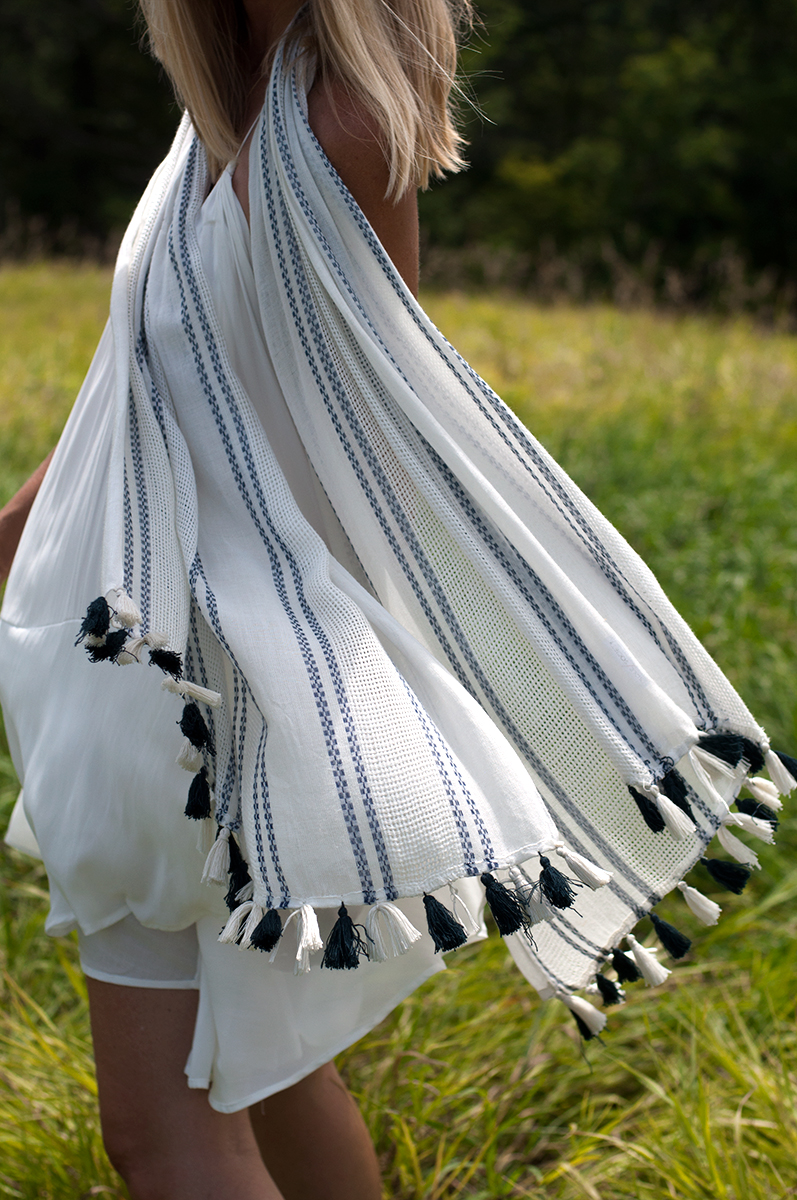 Sole Society Woven Tassel Scarf