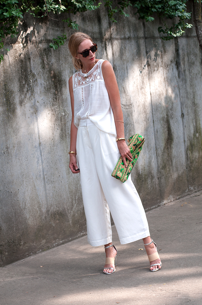 LOFT CRopped Wide Leg Pants