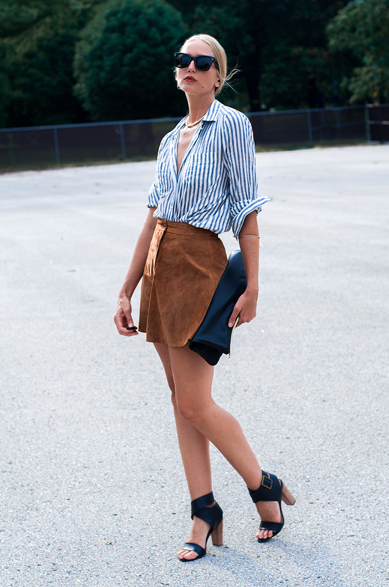 Forever 21 Buttoned Suede Skirt