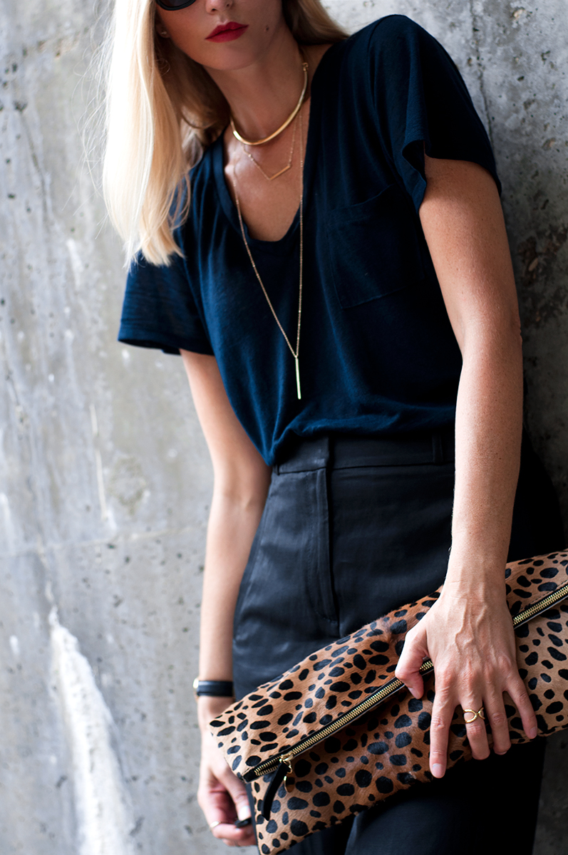 Clare V Supreme Leopard Claf Hair Clutch