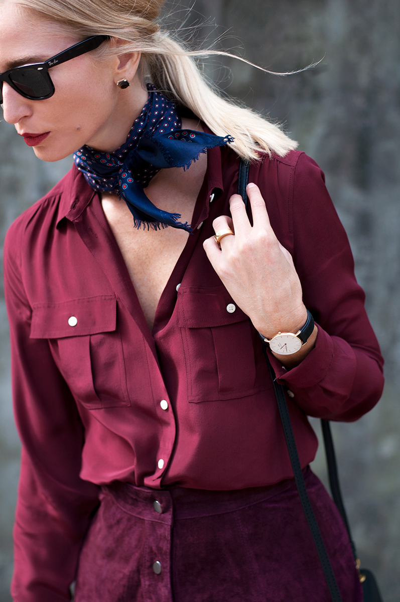 Vintage Silk Scarf, Blogger Style Fall 2015