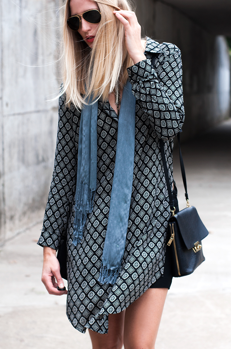 Forever 21 High Slit Diamond Tunic