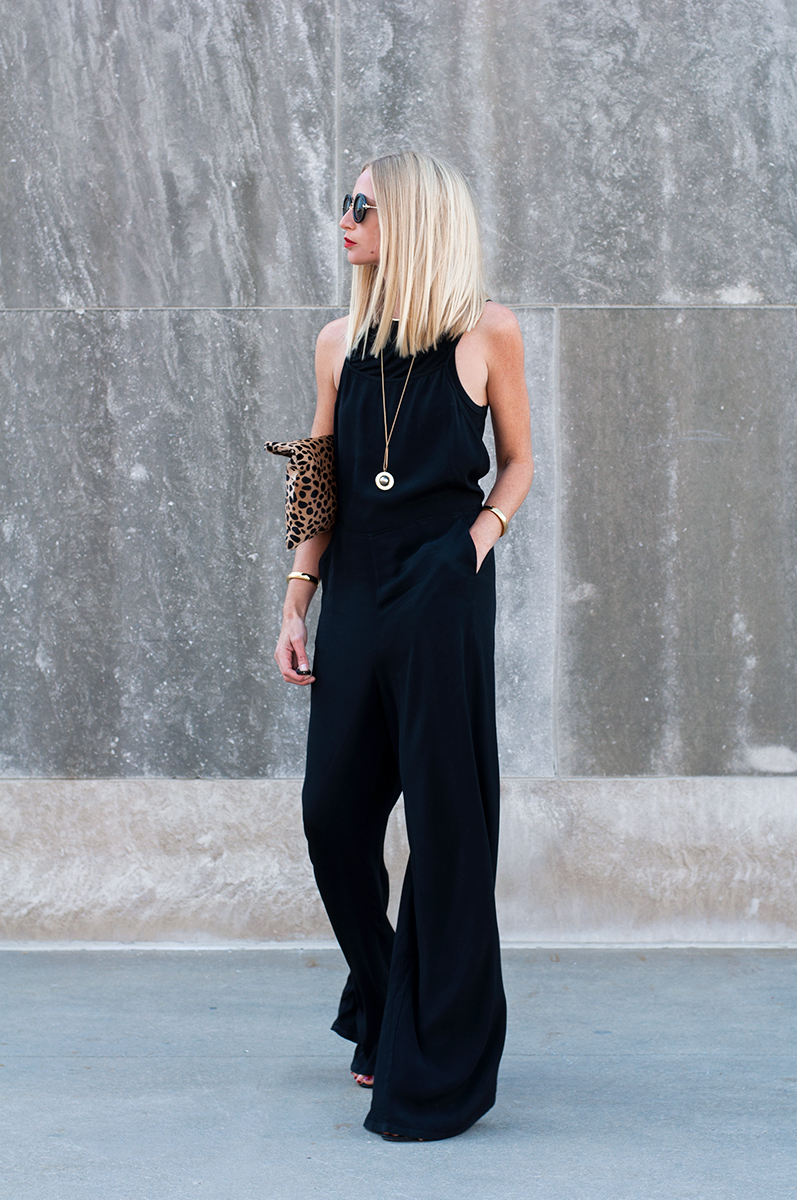 Forever 21 Black Palazzo Jumpsuit