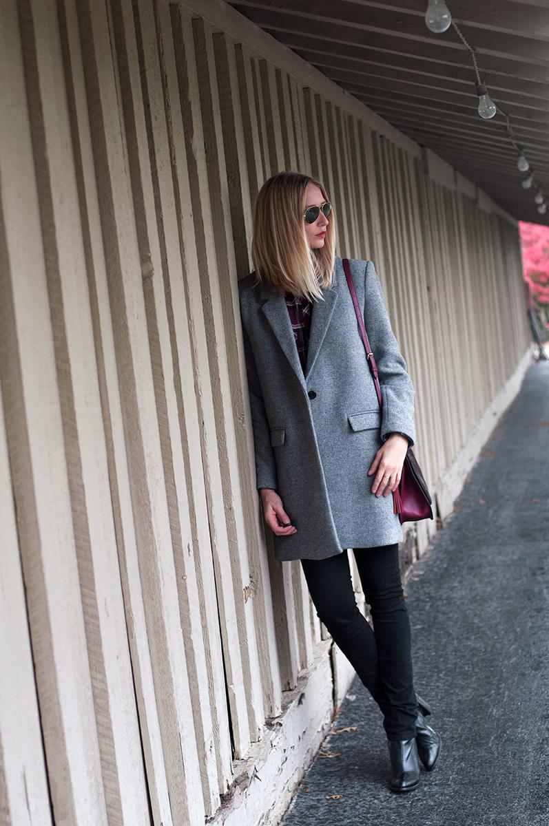 Zara Grey Wool Masculine Coat