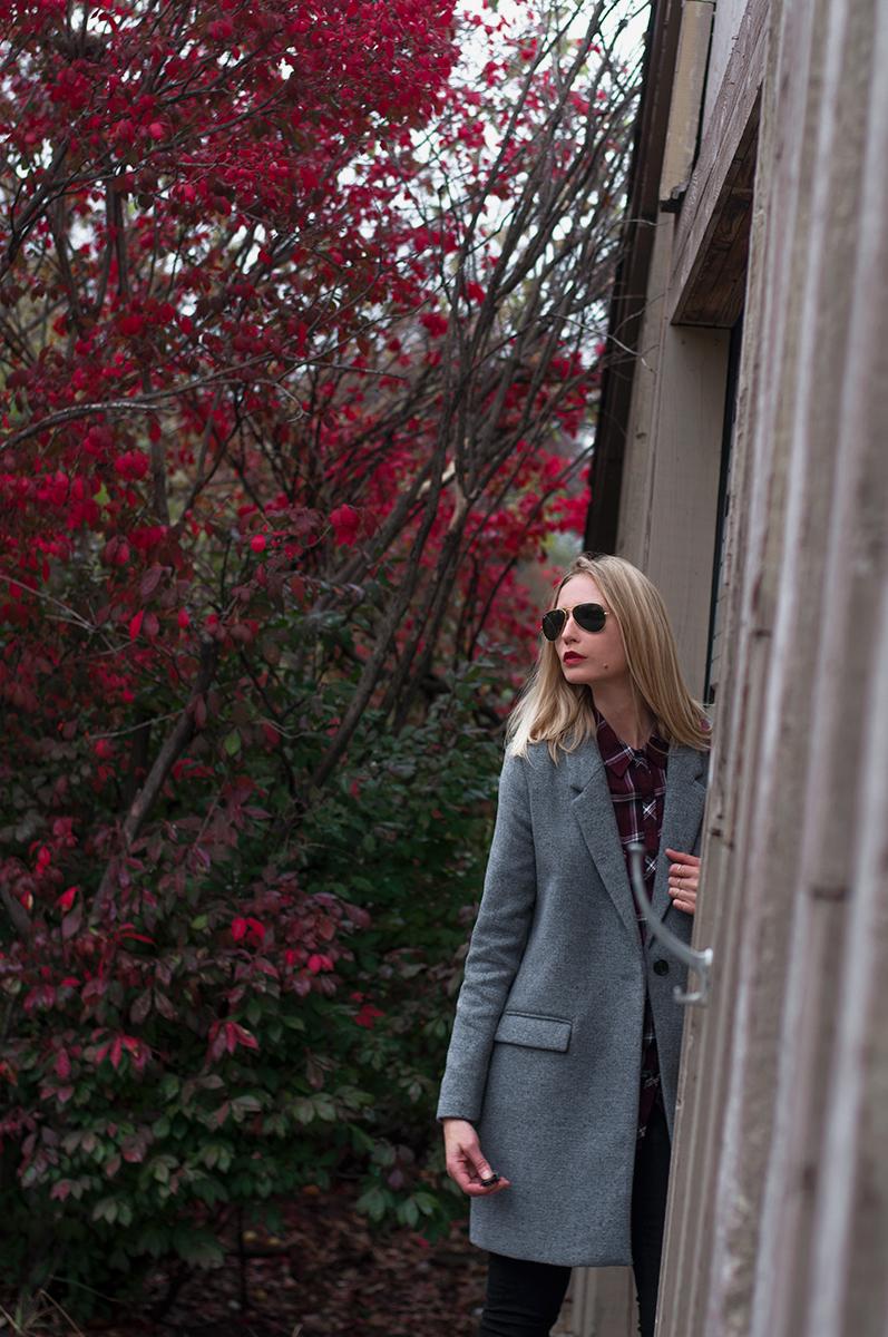 ZARA Grey Masculine Wool Coat