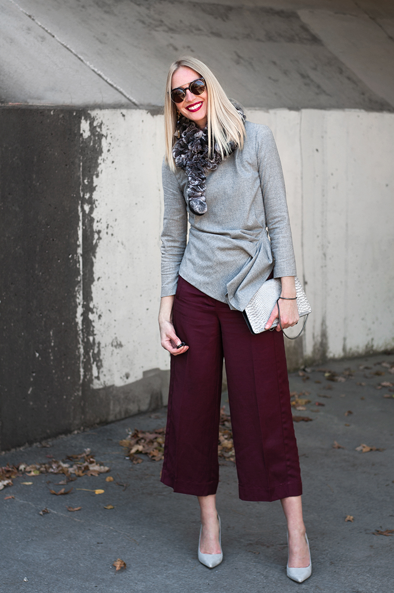 LOFT Wide Leg Cropped Pant in Marissa Fit
