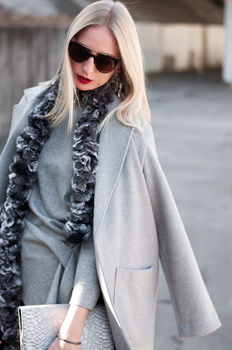 Forever 21 Grey Open Front Duster Coat