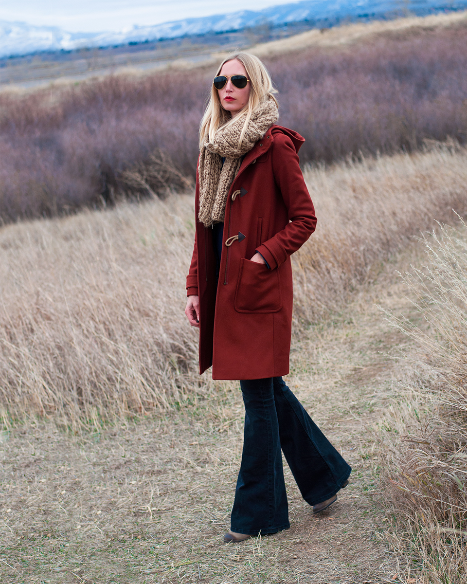 J Crew Wool Melton Toggle Coat