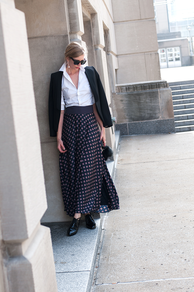 Banana Republic Foulard Maxi Skirt