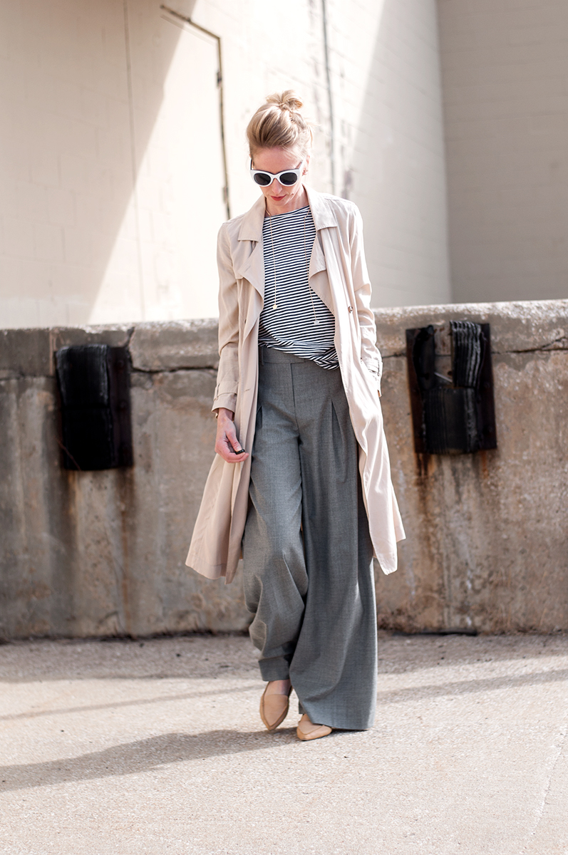 J Crew Wide Leg Pant in Wool