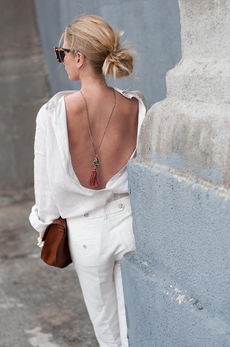 White Shirt Worn Backwards, Forage Fashion
