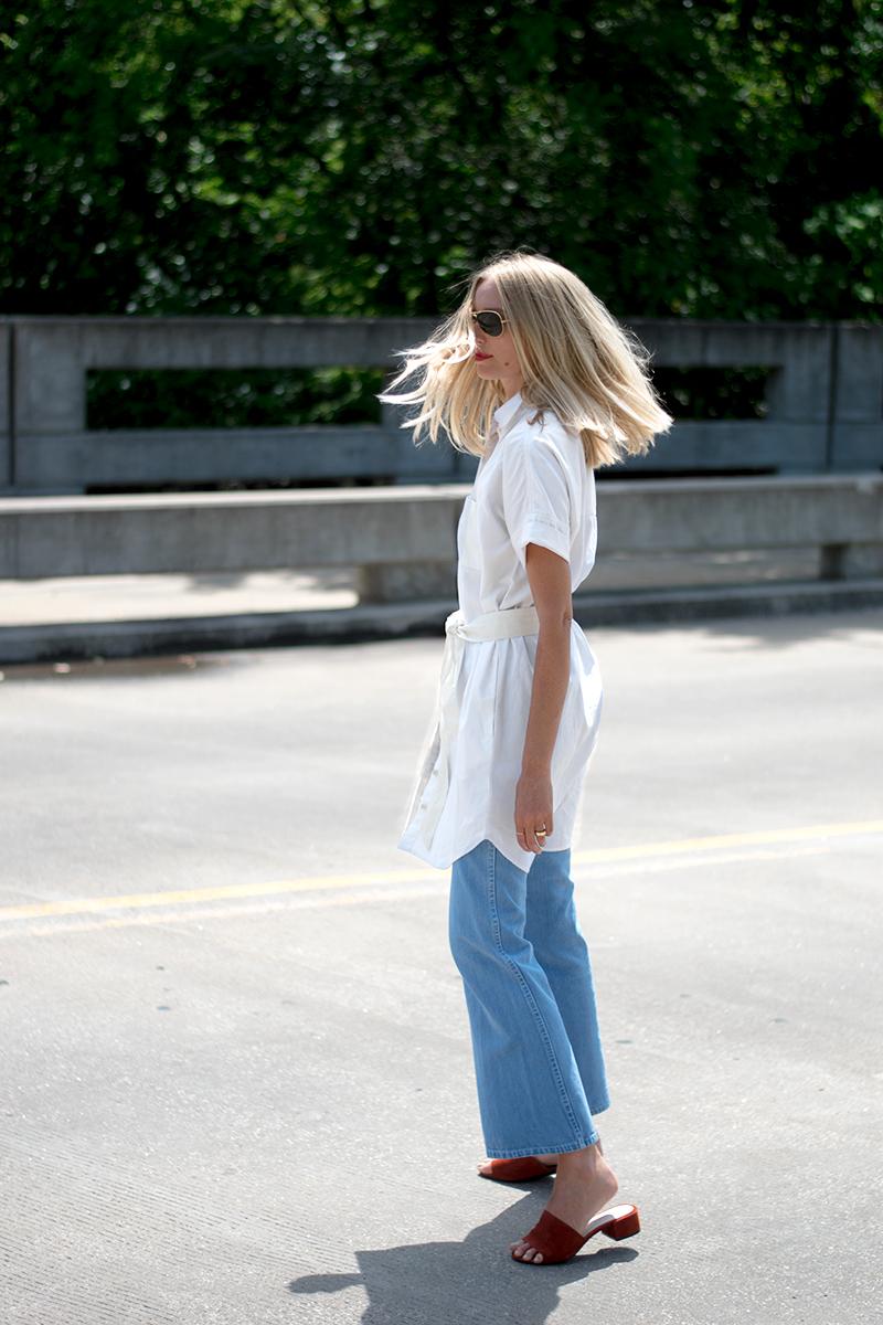 8861747fb0 Madewell White Shirtdress — FORAGE FASHION