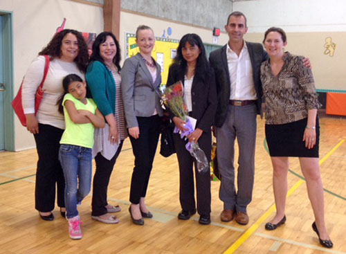 NWHF President Nichole June Maher Attends the Juntos Aprendemos graduation.