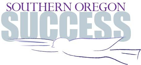 "The words ""Southern Oregon Success"" with a dove underneath them."