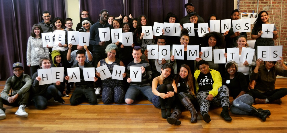 Youth from the youth power & Intersectional Collaboration, one of our Healthy Beginnings+Healthy Communities Collaboratives.