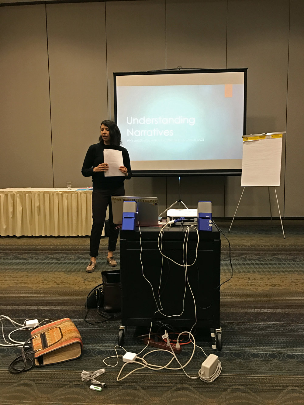 Amanda Manjarrez presenting at the Healthy Beginnings+Healthy Communities gathering of Community Collaboratives in Salem, Oregon.