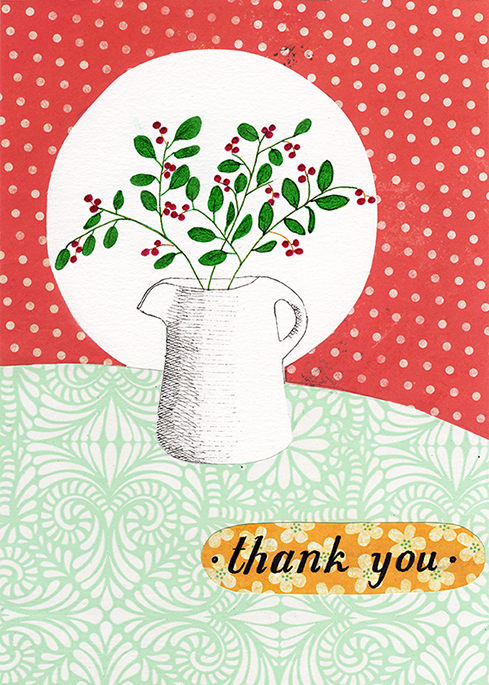 Twigs and Berries Thank You Card