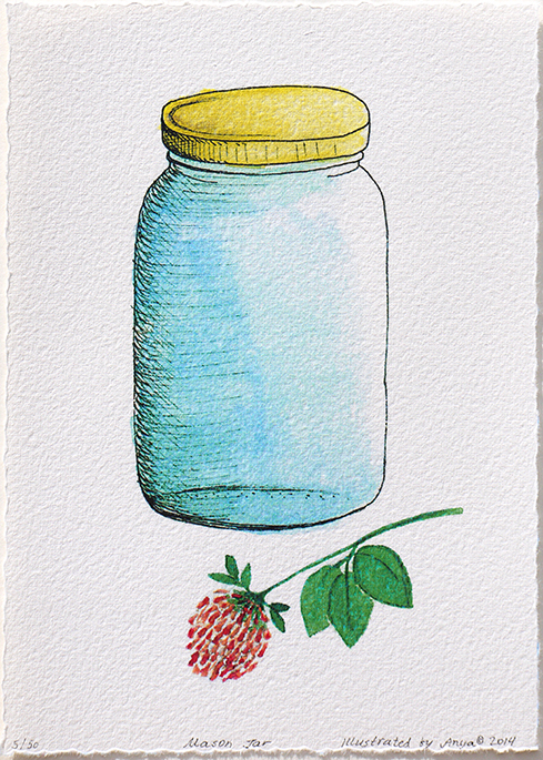 Mason Jar and Clover