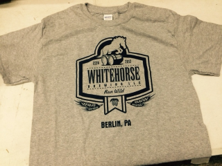 Whitehorse Official T-shirts  -   $15.00                                                                                 T-shirts are available in Navy with White logo and Gray with Blue logo as seen above                                                                                                                                                     M, L, XL and 2XL