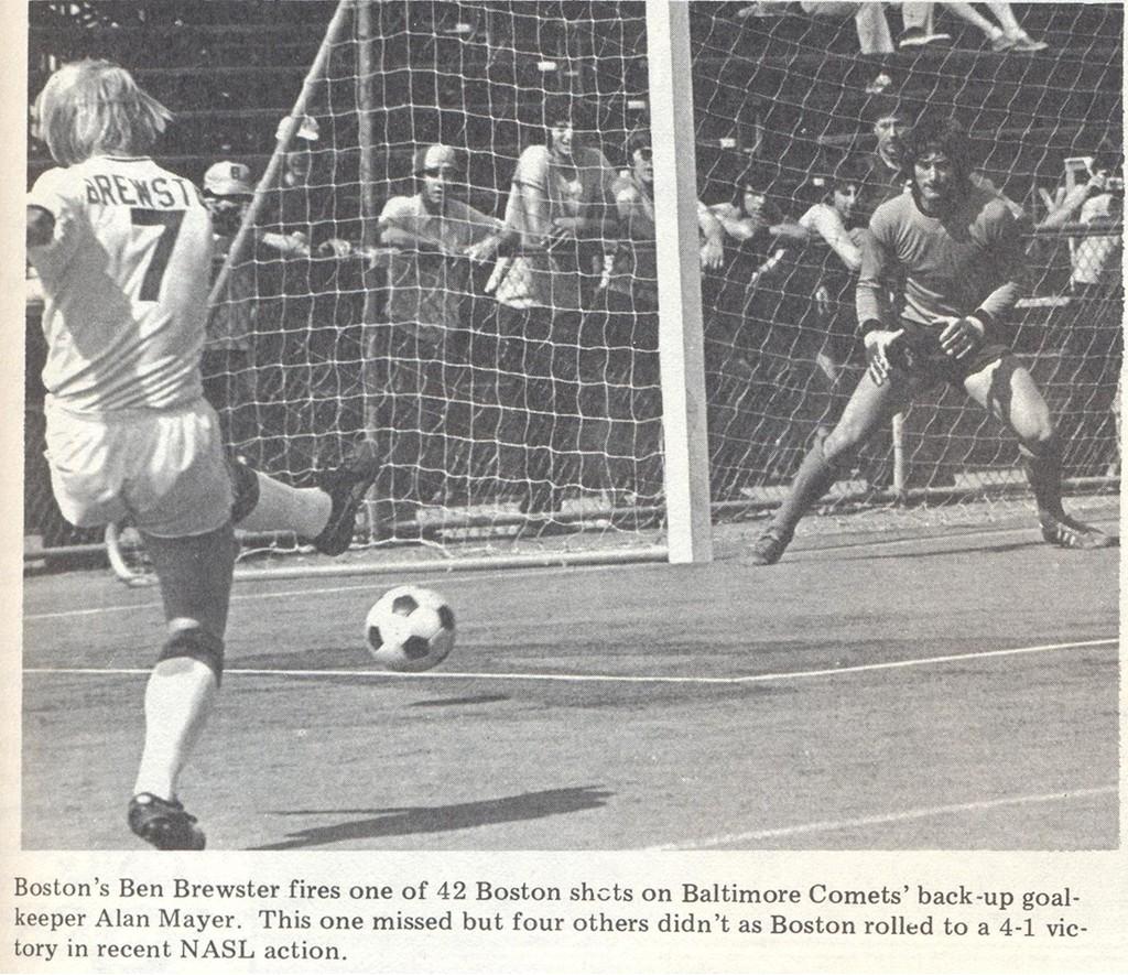 Comets 74 Goalie Alan Mayer