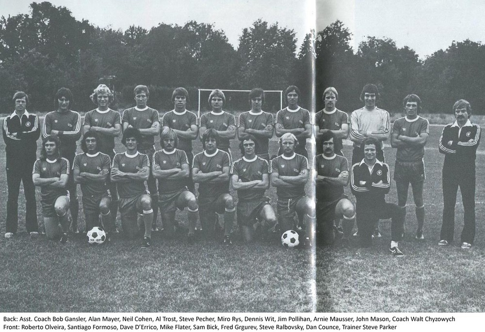 Alan Mayer with the 1976 USMNT