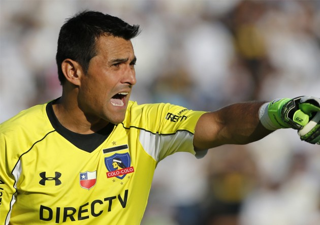 This is Justo Villar, the goalkeeper of the Paraguay National Team, and he has DirecTV