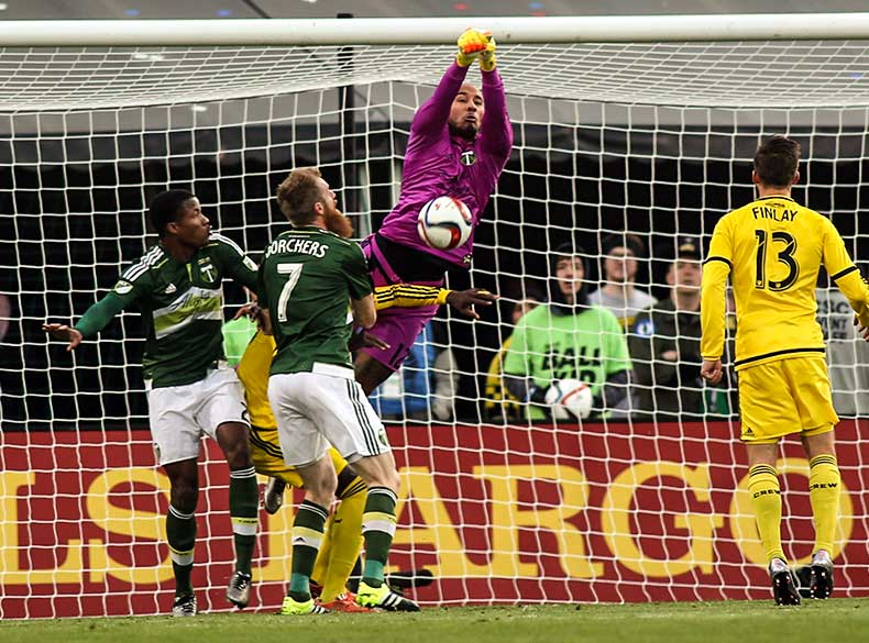 Adam  Kwarasey's  last contribution to the Portland Timbers / USA TODAY Sports