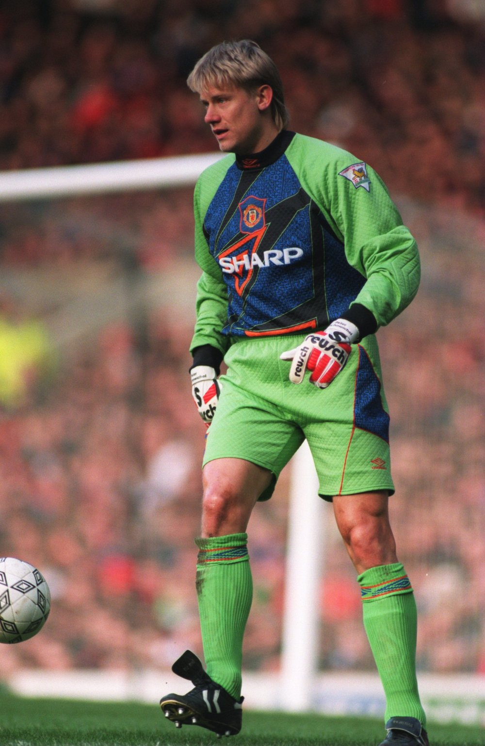 Peter Schmeichel, goalkeeper for Manchester United (1991-1999) and Denmark's National Team (1987-2001)