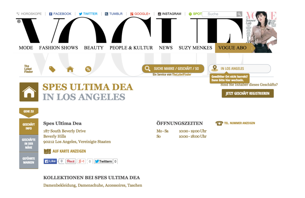 Here is the link:  http://labelfinder.vogue.de/los-angeles/spes-ultima-dea-south-beverly-drive/gesch%C3%A4ft/US/2878435/5368361