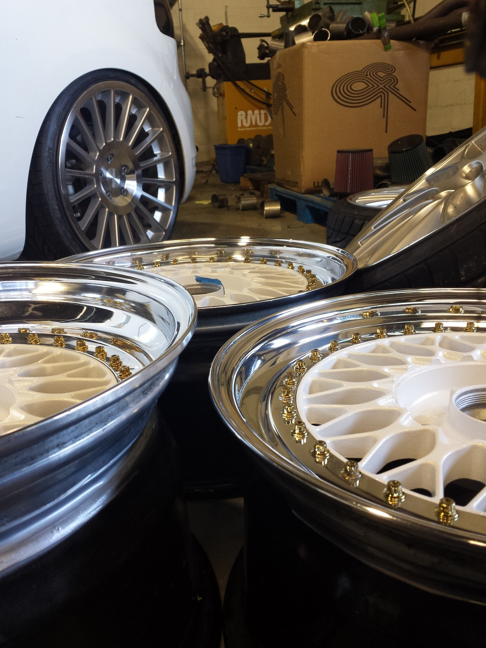 A set of BBS RS after a polish and rebuild.