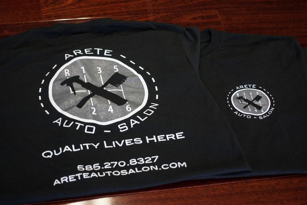arete shop shirt aret auto salon fine auto detailing in rochester ny. Black Bedroom Furniture Sets. Home Design Ideas