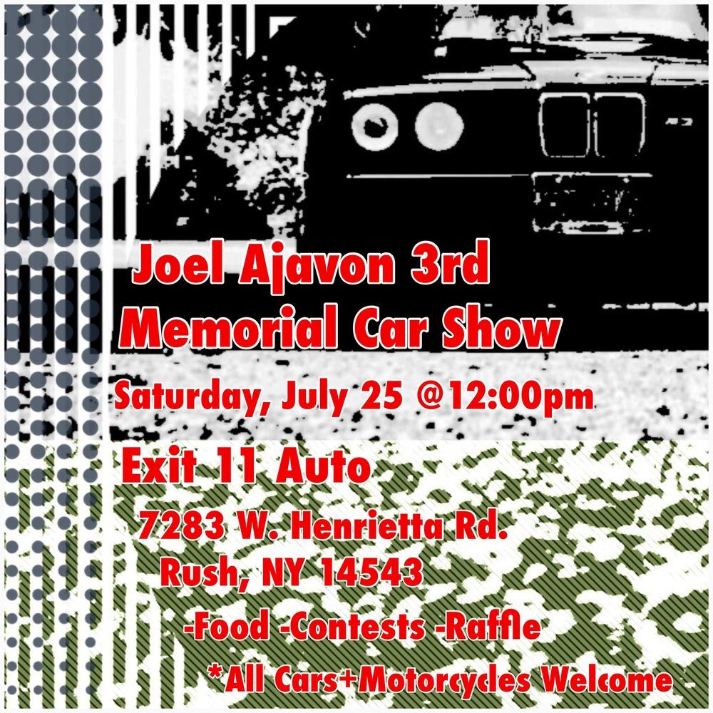 Joel Ajavon Memorial Car Show Rochester NY