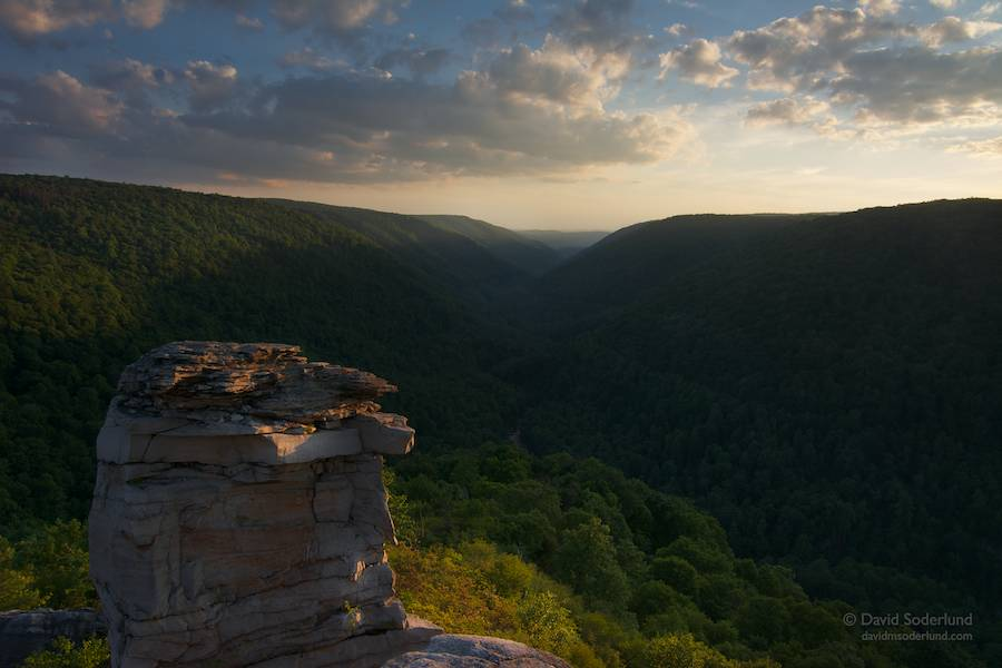 Evening light at Lindy Point, Blackwater Falls State Park, WV