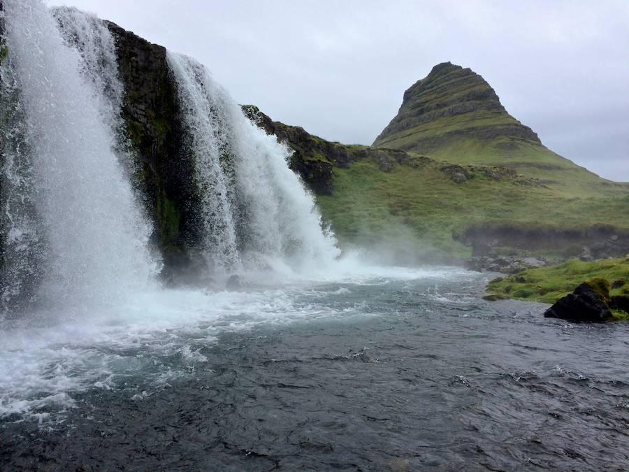 Triple falls at Kirkjufell.