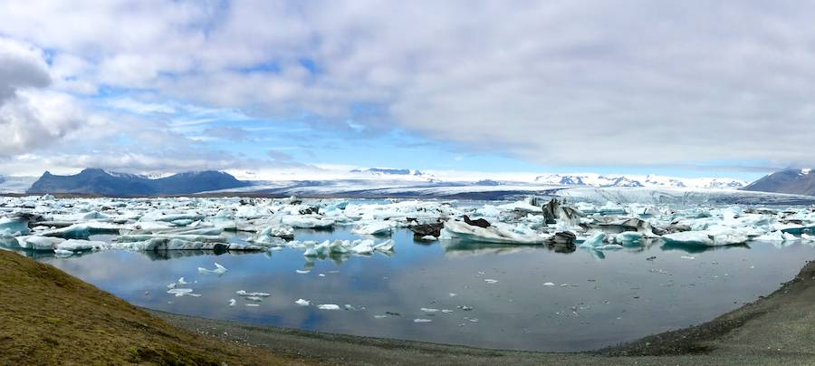 Jokulsarlon panorama; iPhone camera pano.