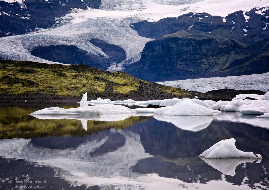 Fjallsarlon and Fjallsjokull.