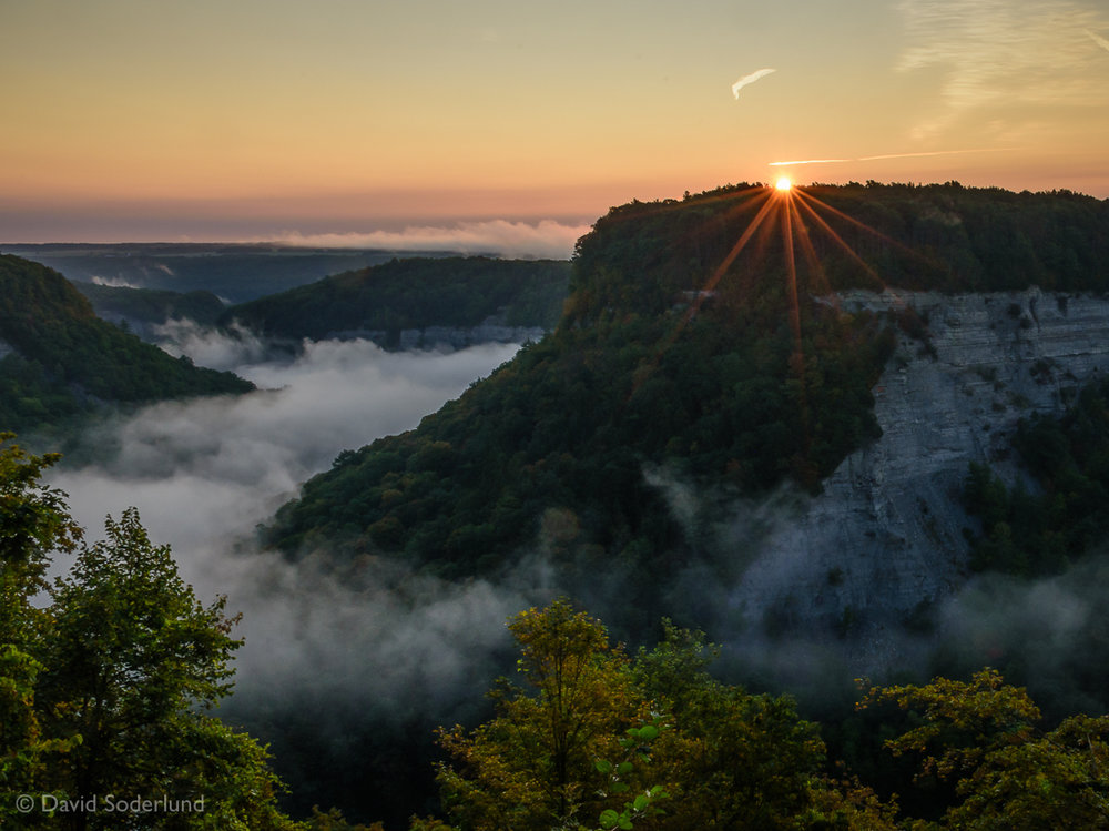 Sunrise at Letchworth State Park, NY.