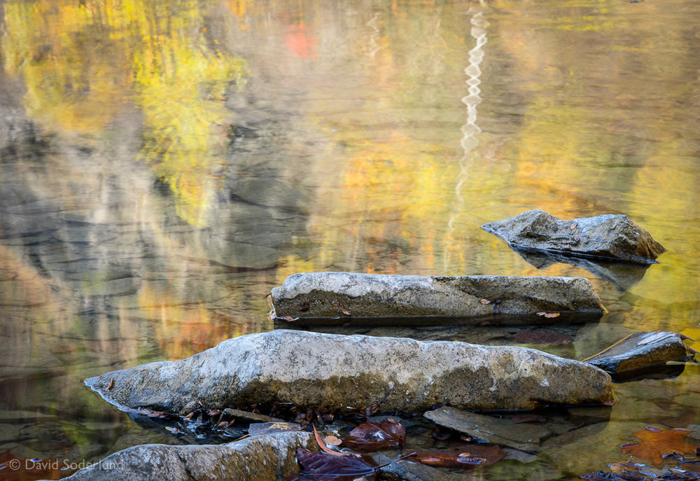 Autumn reflection, Taughannock Falls State Park, NY.